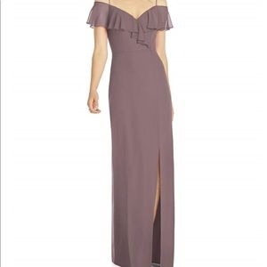 NWT After Six French Truffle Bridesmaids dress